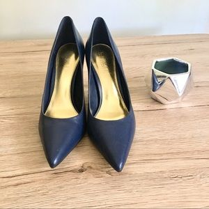 Ralph Lauren navy blue stiletto shoes
